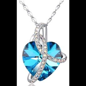 Jewelry - Embrace Blue Heart Crystal Necklace